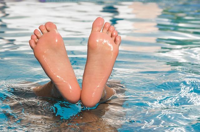 stojka v bazénu